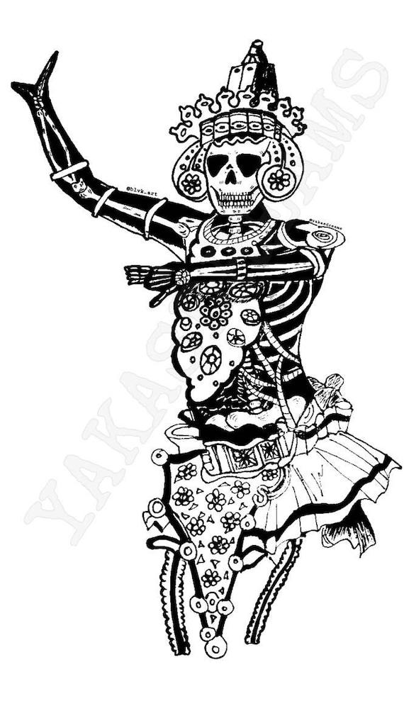 Kandyan Dancer Skully Look Etsy
