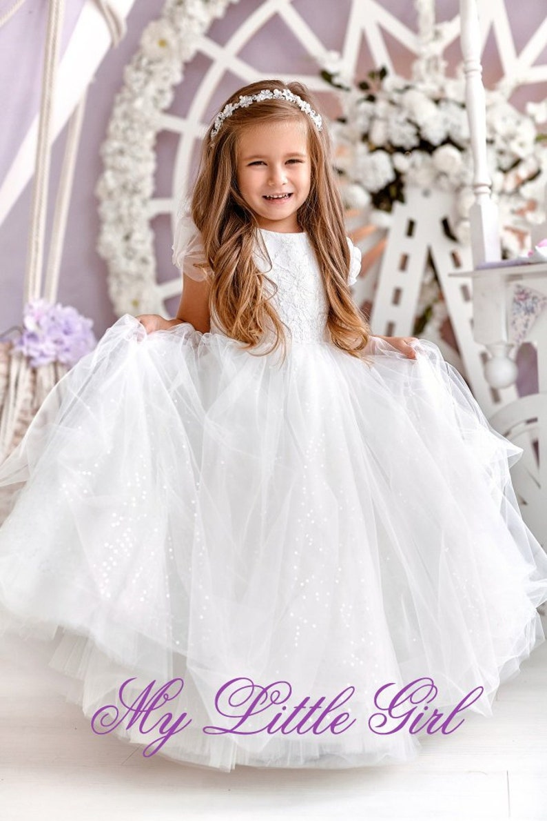 1c2047eeb8b Little Girl Ivory Flower Girl Dresses