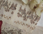 ANTIQUE Ottoman Embroidery Ottoman Towel with Goldthreads Handwoven 18th century Antique Home decor.