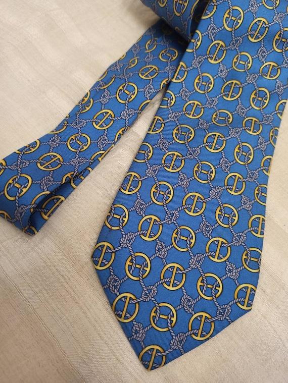 HERMES!! Silk Men's Tie ~ Made in France ~ Men's c