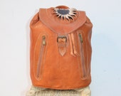 Brown Tan Leather Backpack, Moroccan Leather Backpack, Leather Book Bag, Brown Tan Leather bag, Leather Women Bag, Brown Tan Backpack