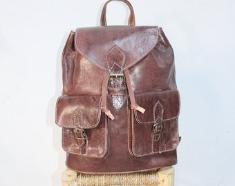 c908eaee6718 Brown Leather Backpack