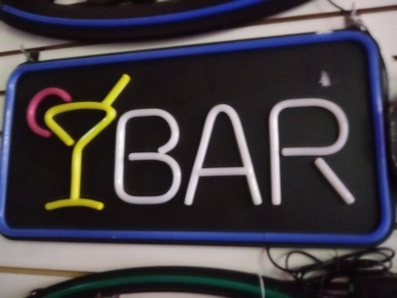 Bar Neon Sign,Window Sign,Store Sign,Business Sign,Bar Store Sign,Grill Store Sign