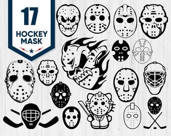Hockey Mask Svg Etsy