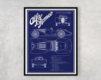 "Vintage Ferrari 250 GTE 2+2 Art Print #2 /""Disegno di Massima/"""