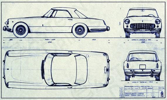 Vintage Ferrari 250 GT Pininfarina Coupe Art Print
