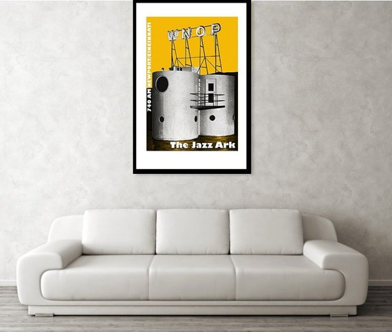 "WNOP /""The Jazz Ark/"" Newport Kentucky Art Print"