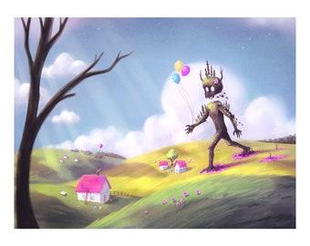 Birthday Monster Art Print