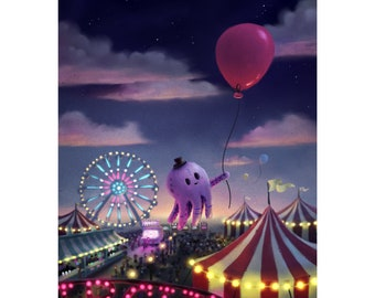 Octopus Circus Art Print