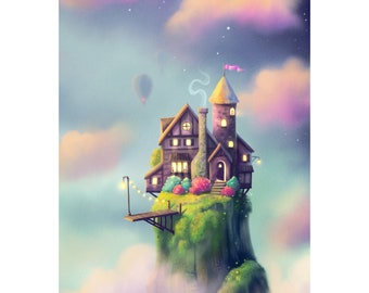 House in the Clouds Art Print