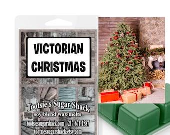 victorian christmas wax melts, christmas scent wax melt, strong wax tart melts