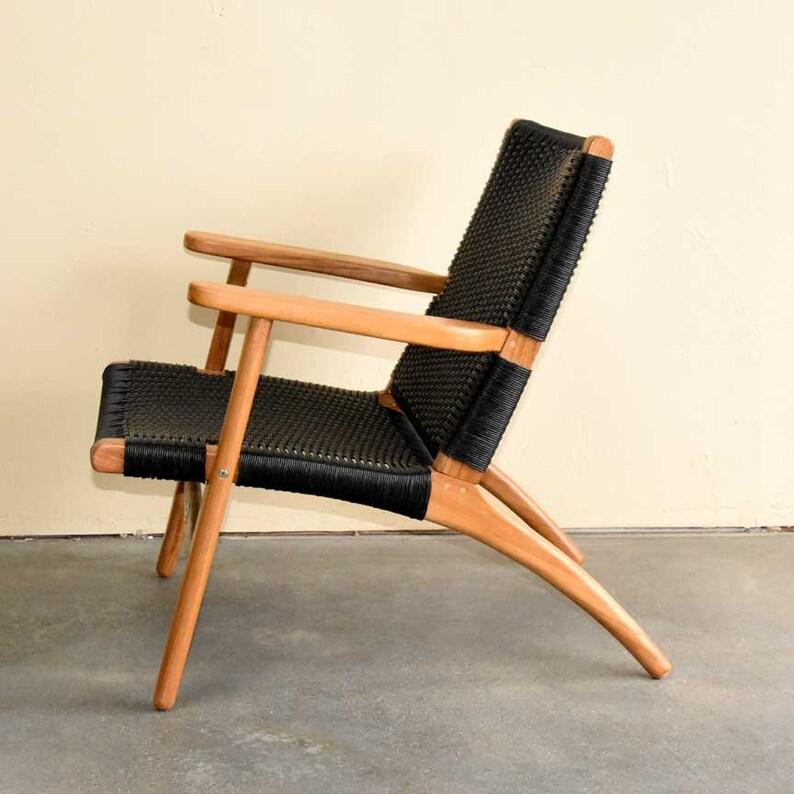 Mid Century Modern Indoor Outdoor Teak Lounge club chair ...