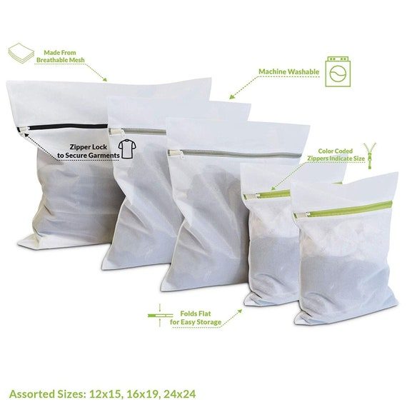 Prime Line Packaging 6 Pcs Laundry Mesh Bags with Zippers for Delicate...