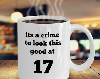 Funny 17th Birthday Gift For 17 Year Olds Custom Mug Designed Idea Perfect Both Him And Her
