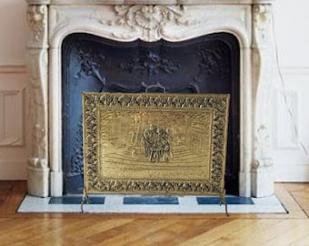 Superb Fireplace Screen Etsy Beutiful Home Inspiration Ommitmahrainfo
