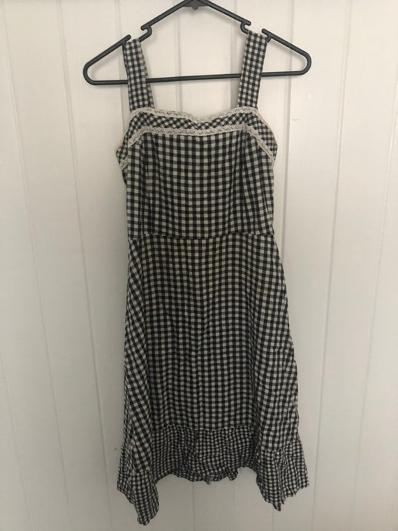 Vintage 1990s Gingham Cotton Dress
