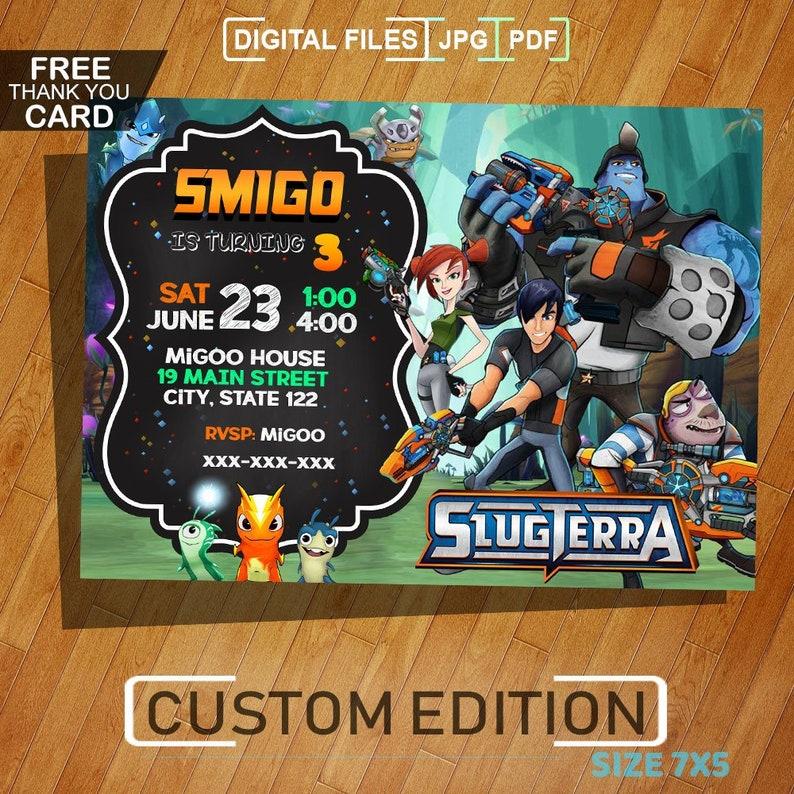 Slugterra Birthday Invitation Slugterra Invitation Slugterra Birthday Slugterra Party Digital Card Printable Digital Invite