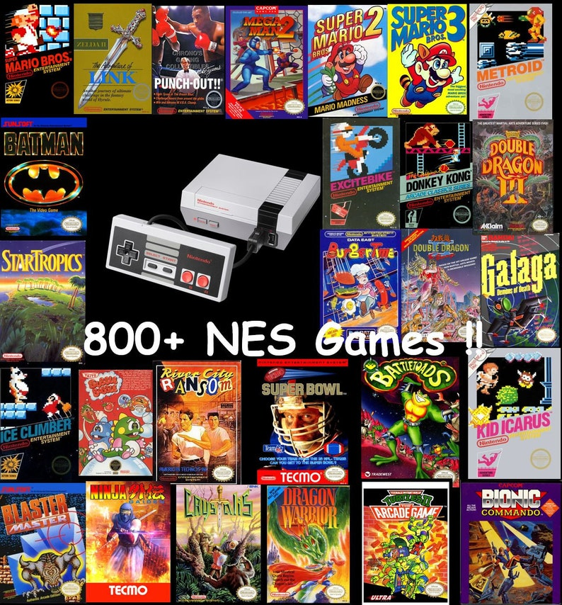 Nintendo Entertainment System: NES Classic Mini Edition customized 800+ NES  Games!!