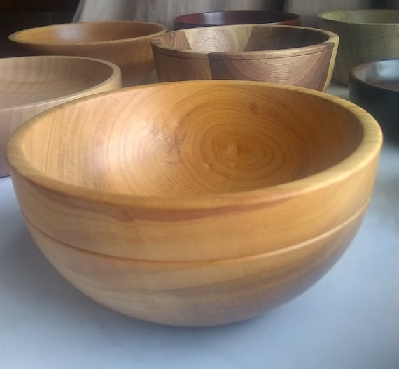Cherry Bowl 5 34 Wooden Bowl Handmade Wood Bowl Wood Bowls Wooden Bowls Turned Bowl