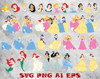Disney Princess Cut Etsy