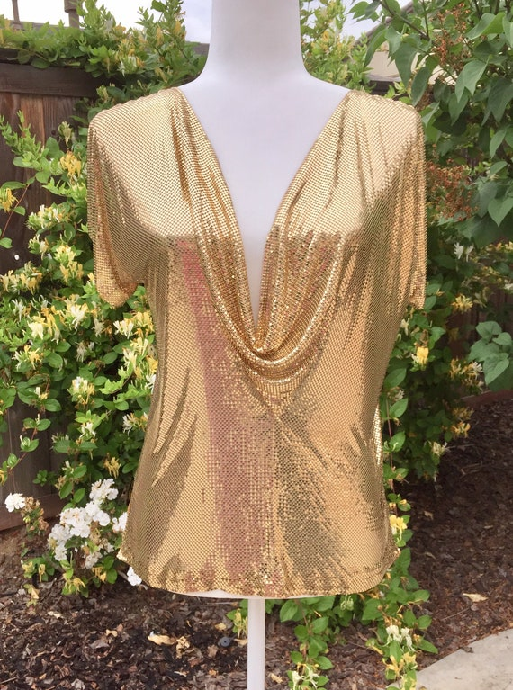 Vintage 1970s -1980s Whiting and Davis Gold Tone M
