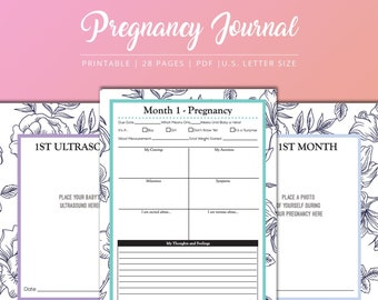 photo about Printable Pregnancy Journals called Being pregnant magazine printable Etsy