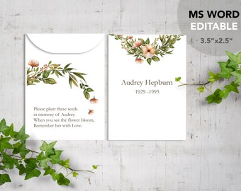 Seed Packet Template Etsy