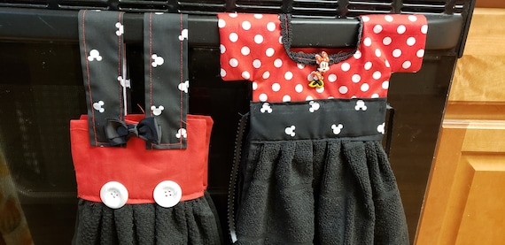 Disney Inspired Minnie And Mickey Kitchen Towels