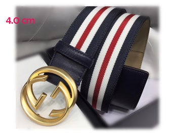 25b898d0049 4.0cm Top layer Calf-leather belt fashion Rainbow strip GG belt buckle  suppliers