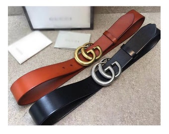 137d62193c9 4.0cm Top layer Calf-leather belt fashion Rainbow GG belt buckle suppliers