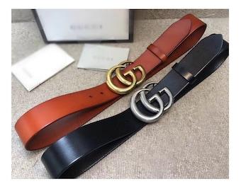b7c501677c3 4.0cm Top layer Calf-leather belt fashion Rainbow GG belt buckle suppliers