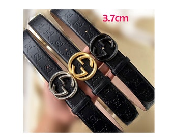 23a927de2a4 37mm Top layer Calf-leather belt fashion leather man round belt buckle belt  suppliers