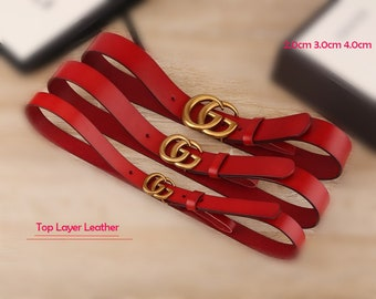 0dc81eebcee 2.0cm 3.0cm 4.0cm Top layer Calf-leather belt fashion red black GG belt  buckle suppliers