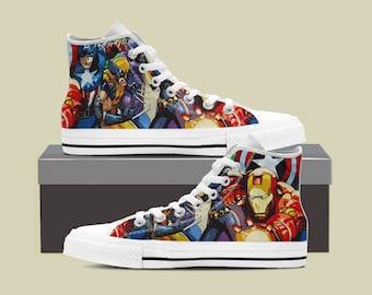 6fdf949d370d Marvel Avengers Assemble End Game Custom Shoes