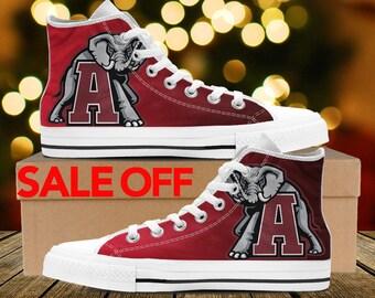 02988935b45b04 Alabama Crimson Tide Custom Shoes