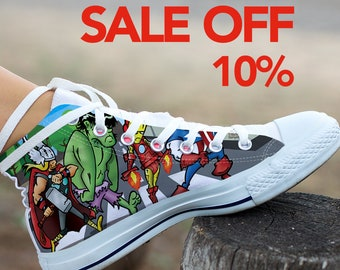 a2cd953dcf55 Marvel Avengers Abby Road Custom Shoes