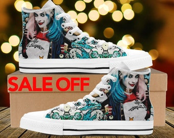 03297957c52584 Harley Quinn Suicide Squad Custom Sneakers