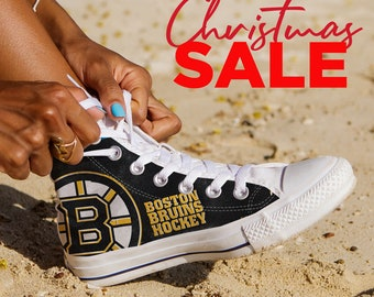 7ff6fa5f569 Boston Bruins Custom Shoes