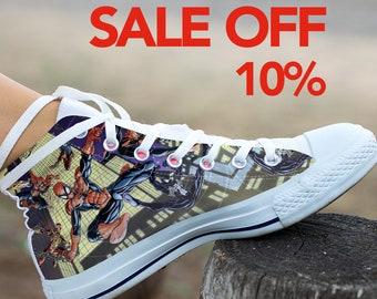 00557a9da0d Spiderman Custom Shoes