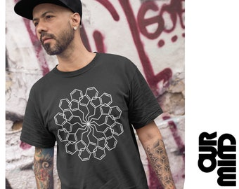 """Official MIND & MATTER PODCAST T-Shirt 03 """"Dmt Molecule Mandala"""" - Unisex Men Women (by Nick Jikomes)"""