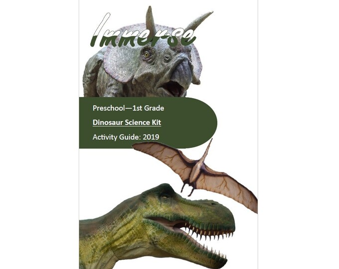 Dinosaur Science Kit, STEM, Hands on crafts for kids, sensory play