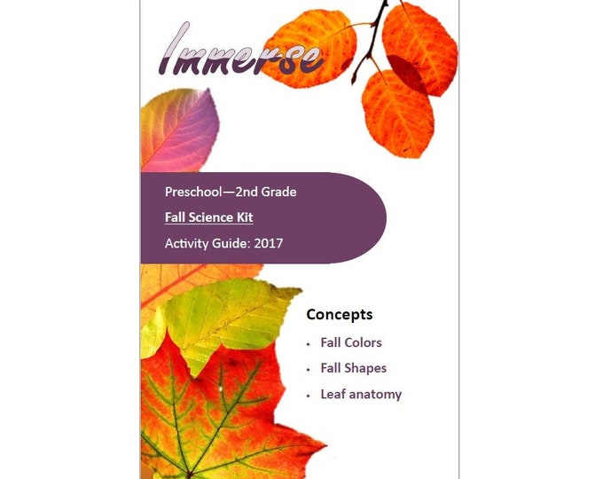 Fall Science Kit, STEM, Hands on crafts for kids, sensory play