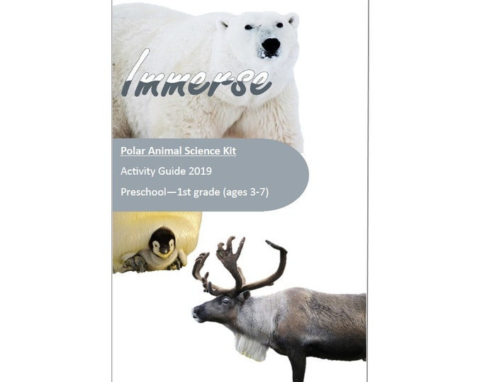 Polar Animal Science Kit, STEM, Hands on crafts for kids, sensory play