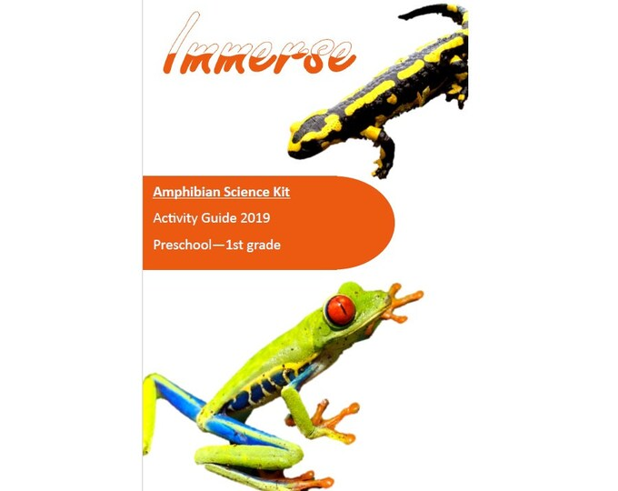 Amphibian Science Kit, STEM, Hands on crafts for kids, sensory play