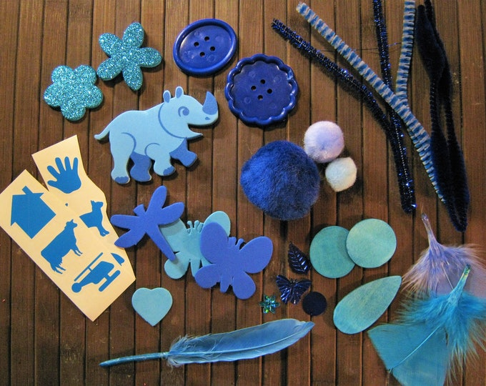 Tactile Collage Kit, Preschool Sensory Activity
