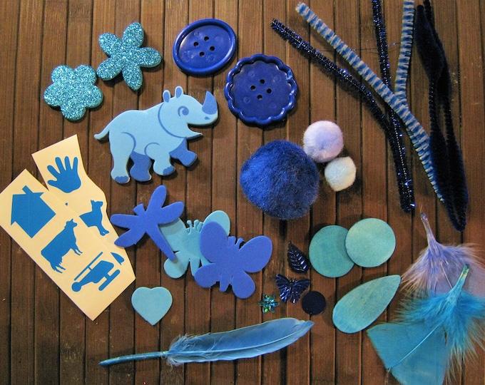 Tactile Collage Kit, Preschool Sensory Activity
