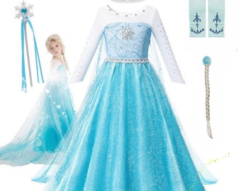 Frozen Elsa Princess Gloves Anna Girl/'s Fancy Long Satin Bow Tied Costume UK