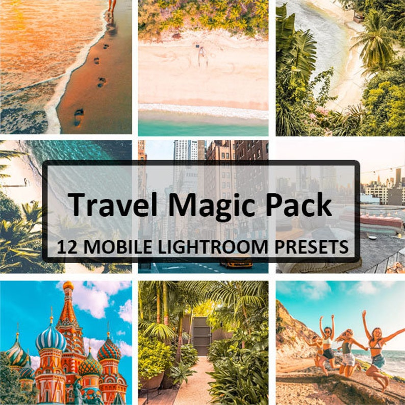 12 Travel Magic Mobile Presets / Mobile Lightroom Preset / Blogger Preset  for Light Enhanced Photos Editing / Adobe Lightroom Mobile