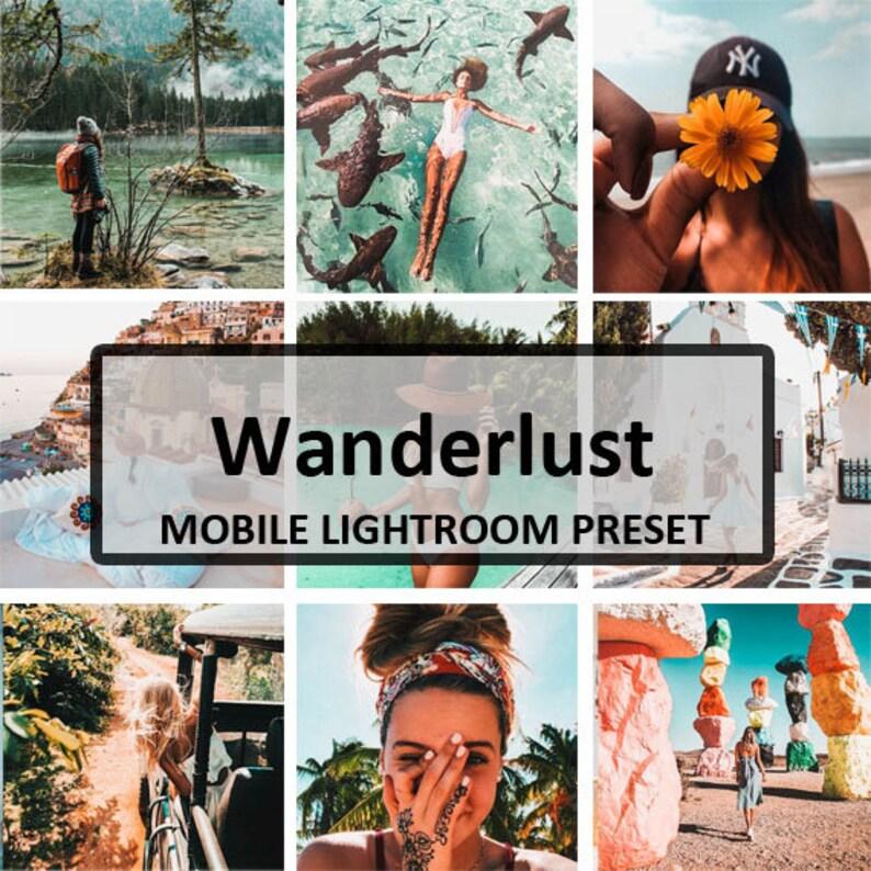 Wanderlust Mobile Preset / Mobile Lightroom Preset / Blogger Preset for  Light Enhanced Photos Editing / Adobe Lightroom Mobile