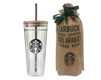 Starbucks Korea White Sunny Strap Water Bottle Tumbler 500ml 16.9oz
